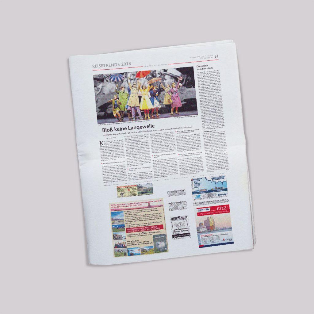 Beispielseite Esslinger Zeitung - Reisekombi