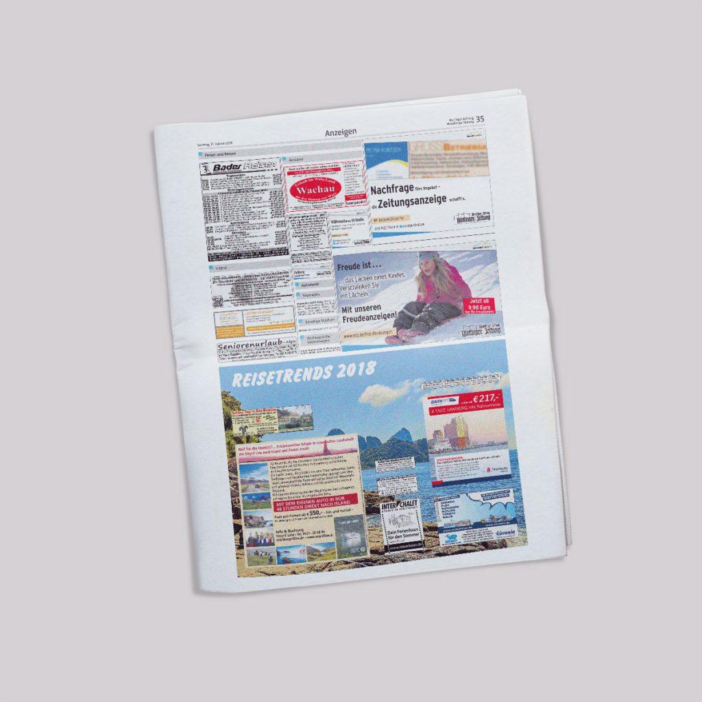 Beispielseite Nürtinger Zeitung - Reisekombi