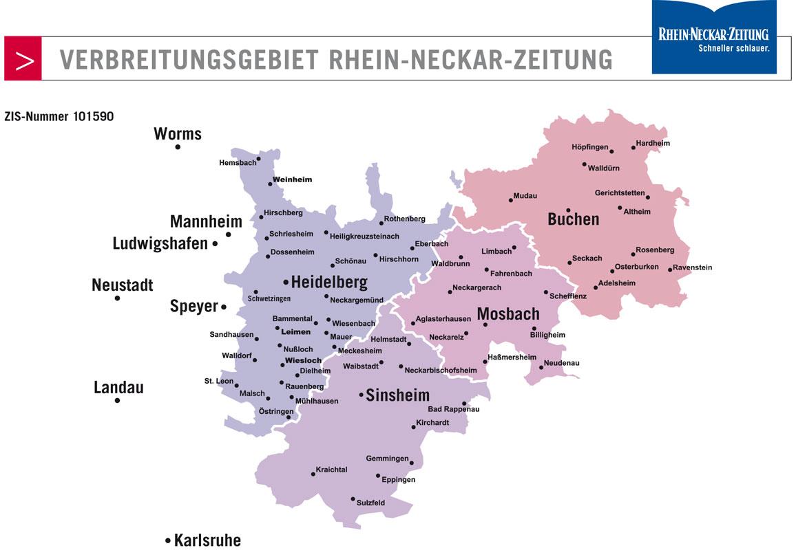 RNZ Verbreitungsgebiet - Reisekombi SüdWest