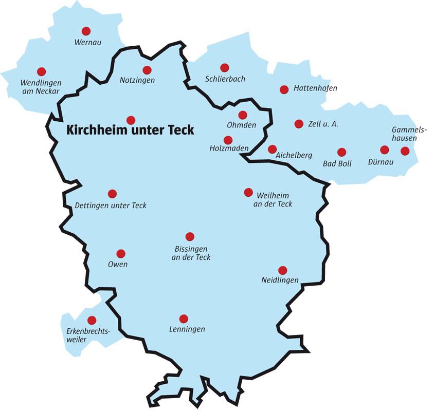 Teckbote Verbreitungsgebiet - Reisekombi SüdWest